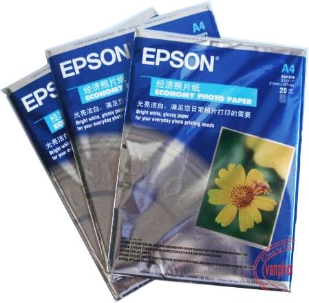Giấy in ảnh 1 mặt Epson A4