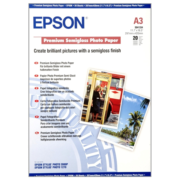 Giấy in ảnh 1 mặt Epson A3